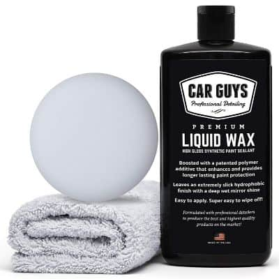 CarGuys Liquid Wax - The Ultimate Car Wax Shine with Polymer Paint Sealant Protection!