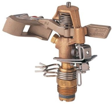 Rain Bird 25PJDAC Brass Impact Sprinkler, Adjustable 20° - 360° Pattern, 20 - 41'