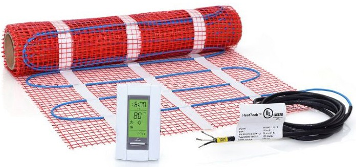 10 sqft Mat Kit, 120V Electric Radiant Floor Heat Heating System