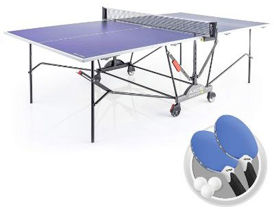 KettlerAxos 2 Outdoor Table Tennis Table with Lockable Wheels and Accessories