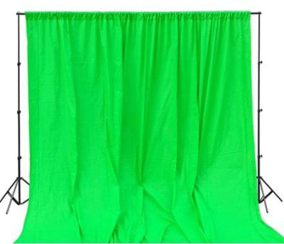 StudioFX 800W Chromakey Green Screen 10ft x 12ft Backdrop Photography Video Lighting Kit