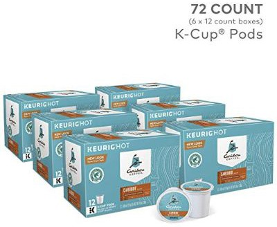 Caribou Coffee Caribou Blend, Single Serve Coffee K-Cup Pod, Medium Roast, 72