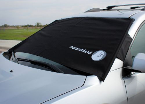 Delk Polarshield Winter Snow Car Wind Proof Windshield Cover with Security Panels