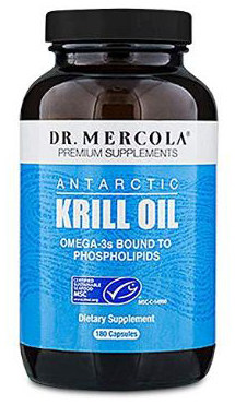 Dr. Mercola Antarctic Krill Oil - 180 Capsules - 1000MG Omega 3 Supplement