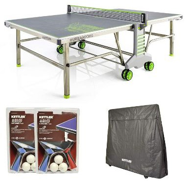 Kettler Urban Pong Outdoor Table Tennis Table w:Outdoor Accessory Bundle