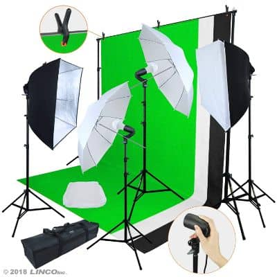 Linco Lincostore LED 3200 Lumens Photo Video Studio Light Kit AM243