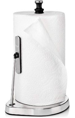 Strong Grip Towel Holder For Counter - Stainless Steel Paper Towel Holder