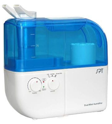 SPT SU-4010 Ultrasonic Dual-Mist Warm:Cool Humidifier with Ion