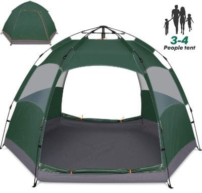 Amagoing 3-4 Person Tents for Camping Instant Setup Tent