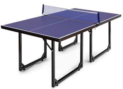 Goplus Foldable Ping Pong Table 99% Preassembled Multi-Use Midsize Compact Table Tennis