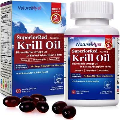NatureMyst Krill Oil, 1250mg, Professional Grade 60 Liquid Softgels