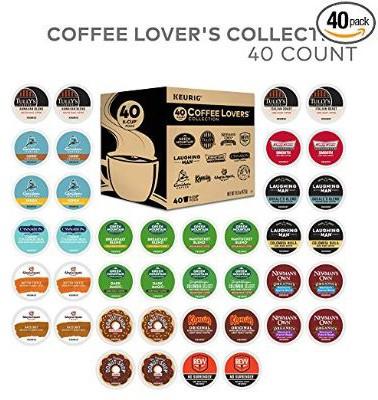 Keurig Coffee Lovers' Collection Sampler Pack, Single Serve K-Cup Pods, 40 Count