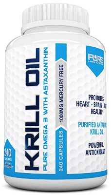 Krill Oil 1000mg with Astaxanthin 240 Caps Omega 3 6 9 - EPA DHA - 100% Purified