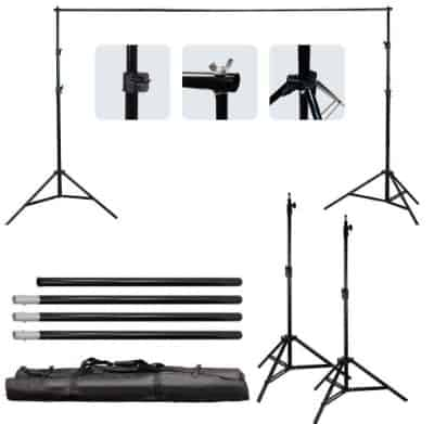 LimoStudio 3meter x 2.6meter : 10foot. x 8.5foot. Background Support System, 800W 5500K