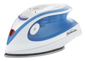 Sunbeam Hot-2-Trot 800 Watt Compact Non-Stick Soleplate Travel Iron, GCSBTR-100-000