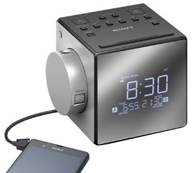 New & Improved - Sony Projector Dual Alarm Clock with Extendable Snooze