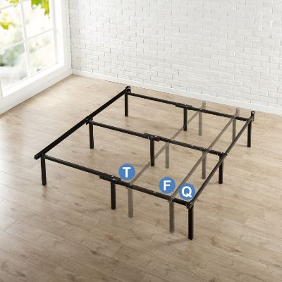 Zinus Compack Adjustable Steel Bed Frame, Twin:Full:Queen