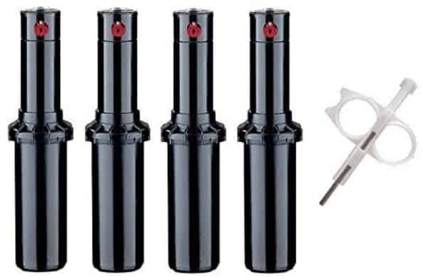 Hunter PGP-adj Rotor Sprinkler Heads - 4 Pack - Includes Adjustment tool