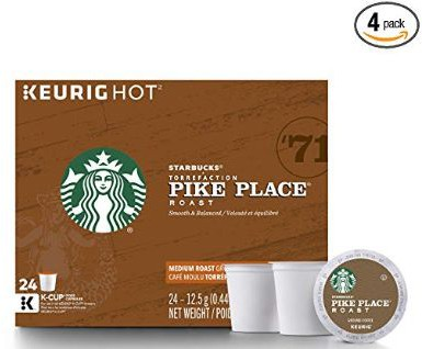 Starbucks Pike Place Roast Medium Roast Single Cup Coffee for Keurig Brewers