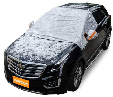 Windshield Snow Cover, Frost Protector for Cars, Compact and Mid-size SUVs
