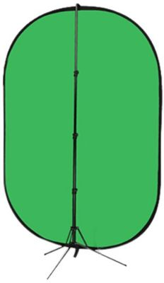 Fotodiox 5'x7' Collapsible Chromakey Green + Blue 2-in-1 Background, Backdrop Kit