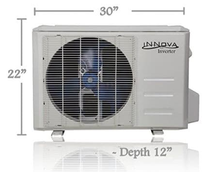 Innova 9,000 BTU Ductless Mini-Split Air Conditioner – Inverter SEER 15.2 – Cooling & Heating