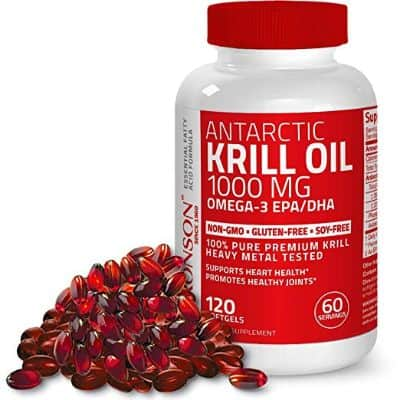 Bronson Antarctic Krill Oil 1000 mg with Omega-3s EPA, DHA, and Astaxanthin