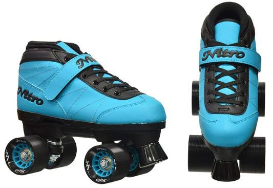 Epic Skates 2016 Epic Nitro Turbo 1 Indoor:Outdoor Quad Speed Roller Skates, Blue