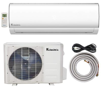 Klimaire 24,000 BTU Ductless Mini-Split Inverter Air Conditioner Heat Pump System