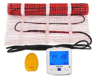 Happybuy 10 Sqft 120V Electric Radiant Floor Heating Mat