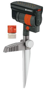 Gardena 38124 ZoomMaxx Oscillating Sprinkler on Metal Step Spike