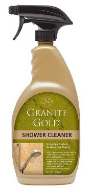Granite Gold Shower Cleaner Spray - Stone Shower Cleaning Solution Travertine, 24 Ounces
