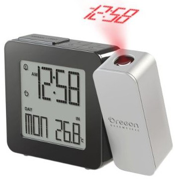Oregon Scientific PROJI Projection Atomic Clock with Indoor Temperature Calendar Alarm