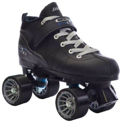 Pacer Black Mach-5 GTX500 Quad Speed Roller Skates w: 2 Pair of Laces (Gray & Black)
