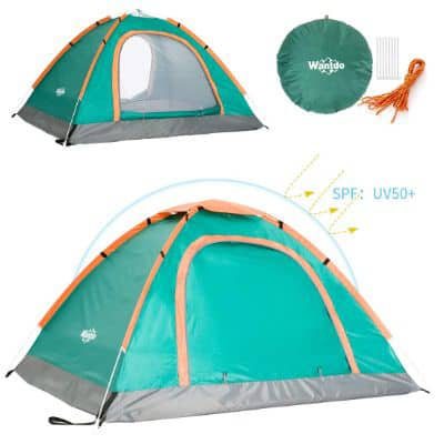 Wantdo 2 Person Pop Up Tent Instant Family Camping Tent
