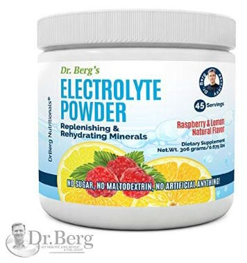 Dr. Berg's Electrolyte Powder, High Energy, Replenish & Rejuvenate Your Cells