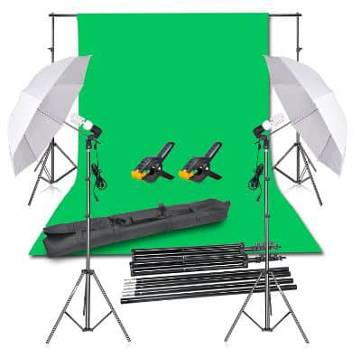 Emart Photography Backdrop Continuous Umbrella Studio Lighting Kit