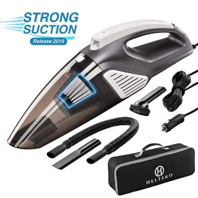 Helteko Car Vacuum Cleaner 12V - High Power Portable Hand Vacuum Cleaner