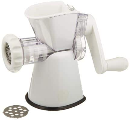 Weston No. 8 Manual Food Grinder (16-0201-W) for Fresh Ground Meats and Vegetables