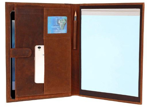 Handmade GENUINE LEATHER Business Portfolio by Rustic Town