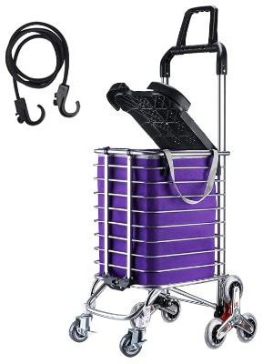 KEDSUM Folding Shopping Cart with Stair Climbing Tri-Wheels
