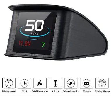 TIMPROVE T600 Universal Car HUD Head Up Display Digital GPS Speedometer