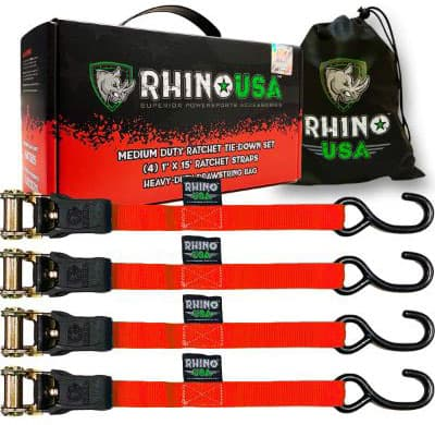 RHINO USA Ratchet Tie Down Straps