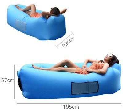 Anglink Outdoor Inflatable Lounger Couch, Thick Durable Comfortable, Air Sofa Blow Up Lounge Sofa