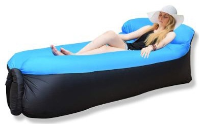 iRegro Inflatable Lounger, Air Sofa Hammock with Headrest