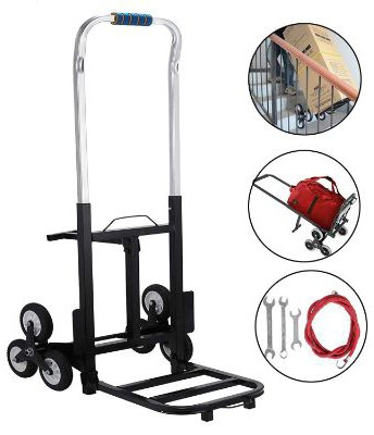 BestEquip 330 LBS Capacity Stair Climber Cart 30 Inch Folded Height Folding Stair Climbing Cart