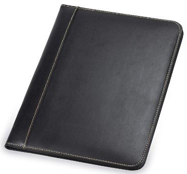 Samsill 71710 Contrast Stitch Leather Padfolio