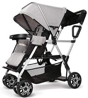 Double Stroller Convenience Urban Twin Carriage Stroller