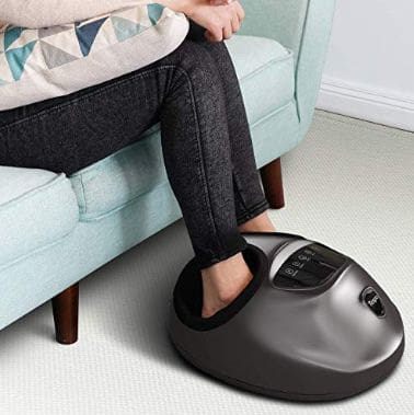 Shiatsu Foot Massager Machine - Tespo Electric Deep-Kneading Massage with Heat & Air Compression