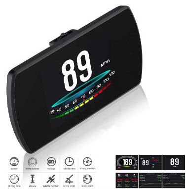 Upgrade T800 Universal Car HUD Head Up Display Digital GPS Speedometer